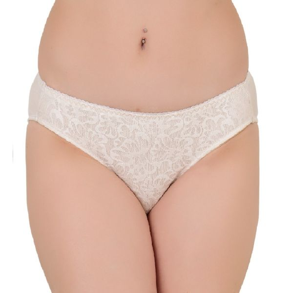Women's Low Rise Polyamide Lace Panty (Cream)