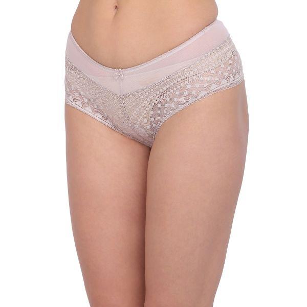 Women Lace Lavendar Non Padded Wired Bridal Bra Panty Set