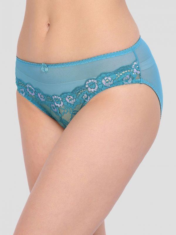 Women's Mid Waist Floral Lace Panty