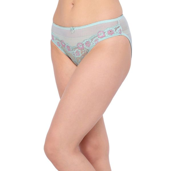 Women's Combo of Mid Waist Floral Lace Panty (Pack of 3)