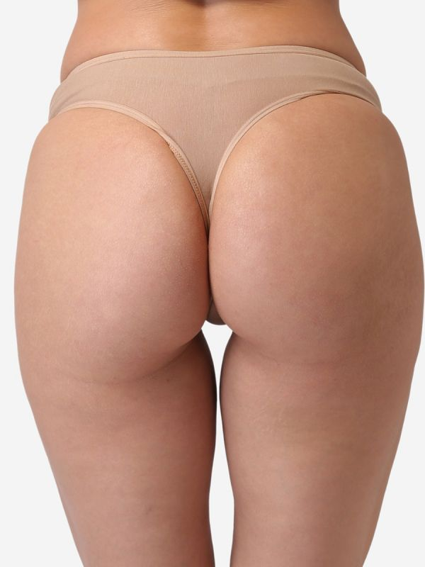 Women's Low Rise Cotton Everyday Solid G-String Thong