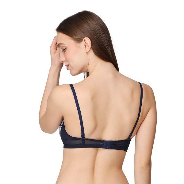 Women Polyamide Lightly Padded Non-Wired Regular Bra (Pack of 3) Blue,Red,White