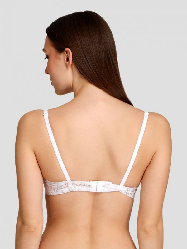 Women's Padded Non-Wired Mid Coverage Regular Lace Bra