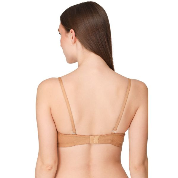 Women Cotton Lightly Padded Non-Wired Regular Bra (Pack of 2) (Nude,Black)