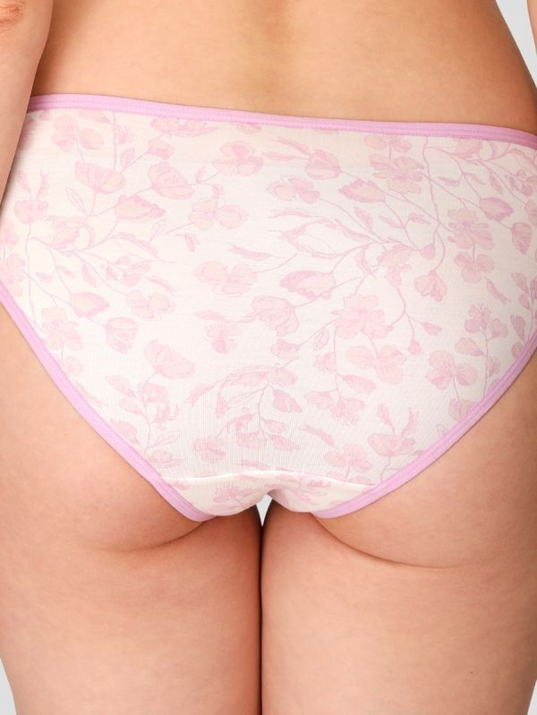 Women's Mid Waist Printed Panty