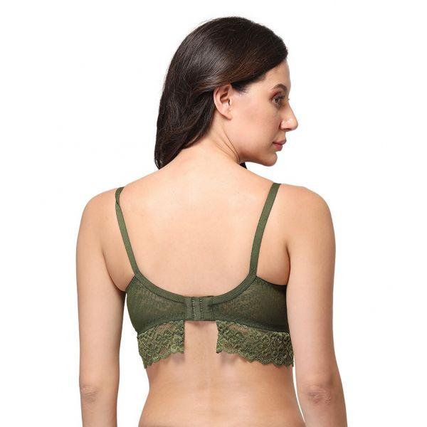 Women's Lace Mid Coverage Soft Elegant Padded Bra