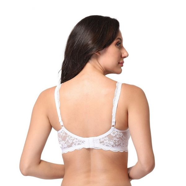 Women Lace Padded Non Wired Bridal Bra
